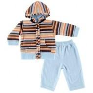Комплект флисовый с капюшоном для мальчика  «Ярко» Hudson Baby 55040