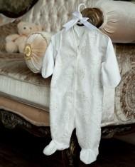 Babypollo Комбинезон нарядный с кружевными полочками 2-013