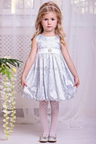 Zironka Нарядное платье Серебряное барокко 4009-2